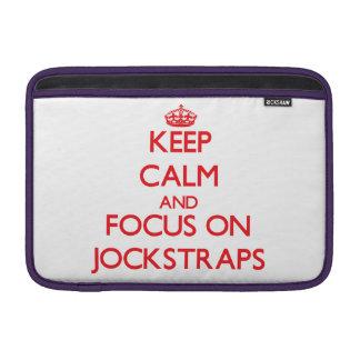 Keep Calm and focus on Jockstraps Sleeve For MacBook Air