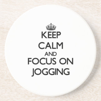Keep Calm and focus on Jogging Coasters
