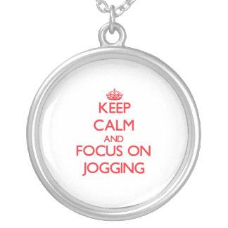 Keep Calm and focus on Jogging Custom Jewelry