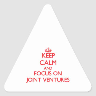 Keep Calm and focus on Joint Ventures Triangle Stickers