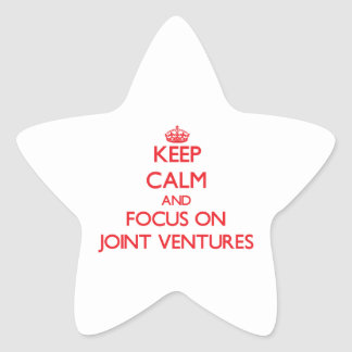 Keep Calm and focus on Joint Ventures Star Stickers