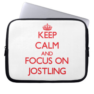 Keep Calm and focus on Jostling Laptop Sleeve