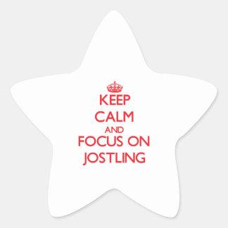 Keep Calm and focus on Jostling Star Sticker