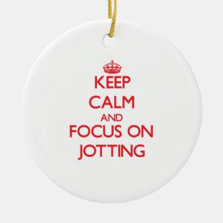 Keep Calm and focus on Jotting Christmas Tree Ornament