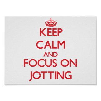 Keep Calm and focus on Jotting Poster