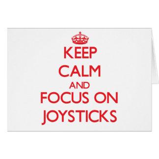 Keep Calm and focus on Joysticks Greeting Card