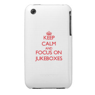 Keep Calm and focus on Jukeboxes iPhone 3 Covers