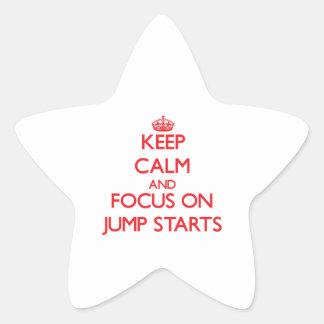 Keep Calm and focus on Jump Starts Sticker