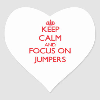 Keep Calm and focus on Jumpers Sticker