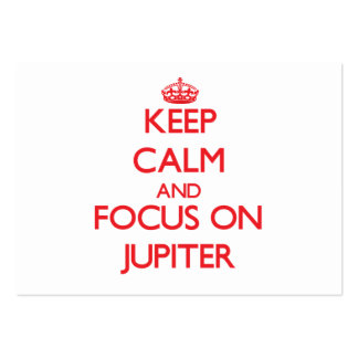 Keep Calm and focus on Jupiter Business Card Templates