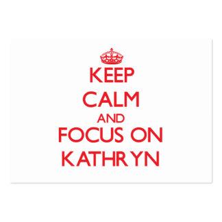 Keep Calm and focus on Kathryn Business Card Templates