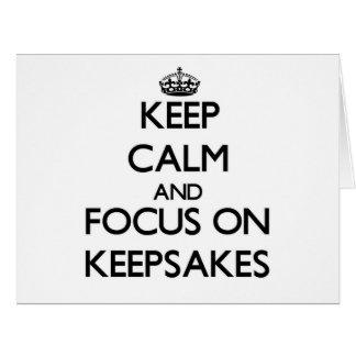 Keep Calm and focus on Keepsakes Large Greeting Card