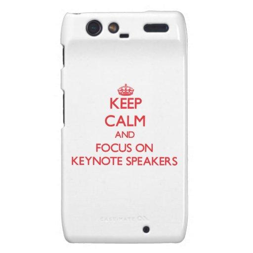 Keep Calm and focus on Keynote Speakers Motorola Droid RAZR Case
