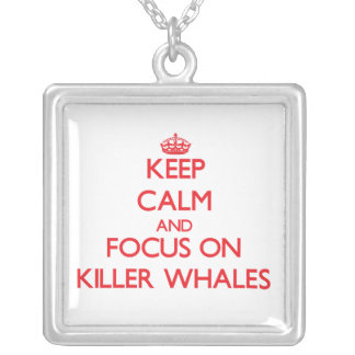 Keep calm and focus on Killer Whales Necklace
