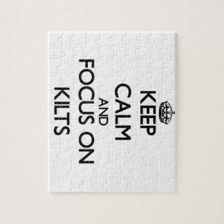 Keep Calm and focus on Kilts Jigsaw Puzzle