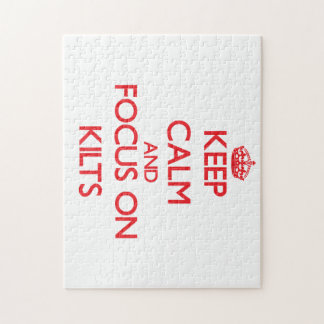 Keep Calm and focus on Kilts Puzzle