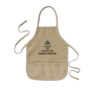 Keep Calm and focus on Kissing Sessions Kids' Apron