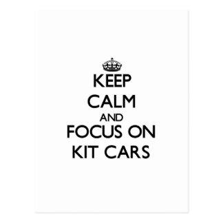Keep calm and focus on Kit Cars Postcard