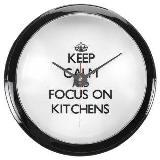 Keep Calm and focus on Kitchens Fish Tank Clocks