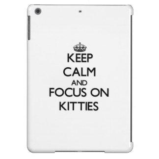 Keep Calm and focus on Kitties iPad Air Case
