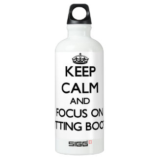 Keep Calm and focus on Knitting Booties SIGG Traveler 0.6L Water Bottle