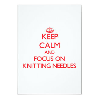 Keep Calm and focus on Knitting Needles Cards