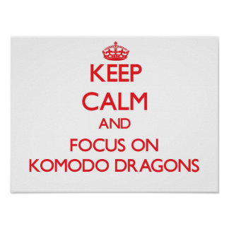 Keep calm and focus on Komodo Dragons Posters