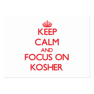 Keep Calm and focus on Kosher Business Card Templates