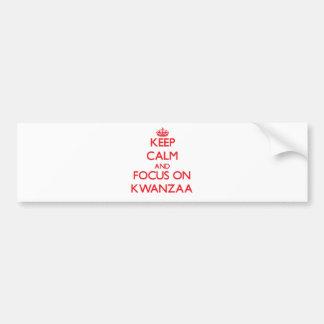 Keep Calm and focus on Kwanzaa Car Bumper Sticker