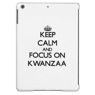 Keep Calm and focus on Kwanzaa iPad Air Cases
