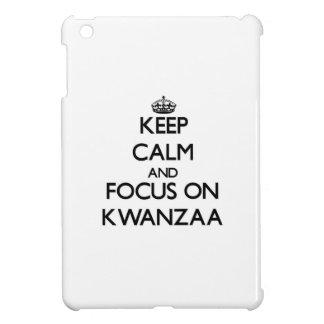 Keep Calm and focus on Kwanzaa iPad Mini Cover