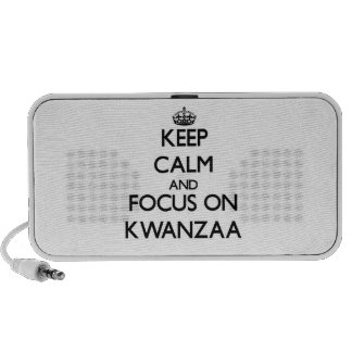 Keep Calm and focus on Kwanzaa Mp3 Speakers