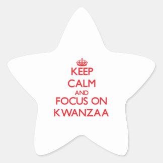 Keep Calm and focus on Kwanzaa Star Sticker