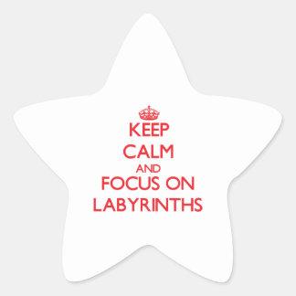 Keep Calm and focus on Labyrinths Star Sticker