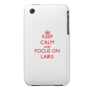Keep Calm and focus on Lairs iPhone 3 Covers