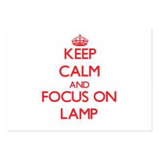 Keep Calm and focus on Lamp Business Cards