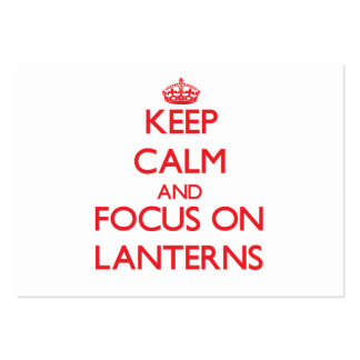 Keep Calm and focus on Lanterns Business Card Template