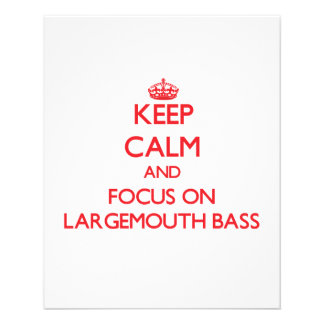 Keep Calm and focus on Largemouth Bass Flyers