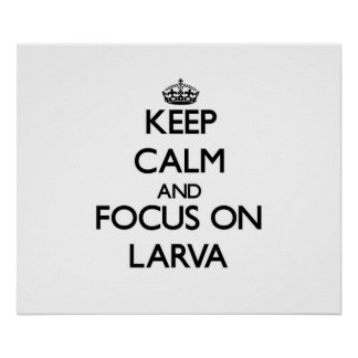 Keep Calm and focus on Larva Poster