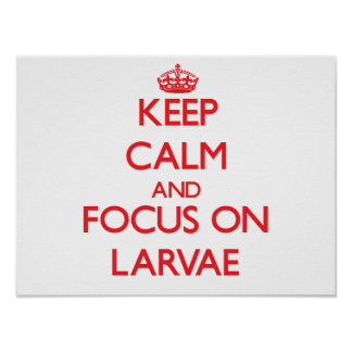 Keep Calm and focus on Larvae Posters