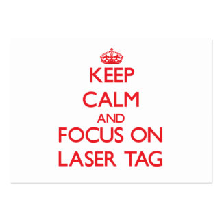 Keep calm and focus on Laser Tag Business Cards