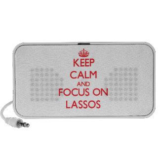 Keep Calm and focus on Lassos Travel Speaker