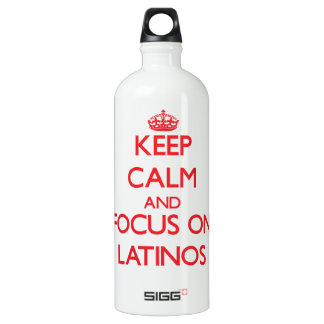 Keep Calm and focus on Latinos SIGG Traveler 1.0L Water Bottle