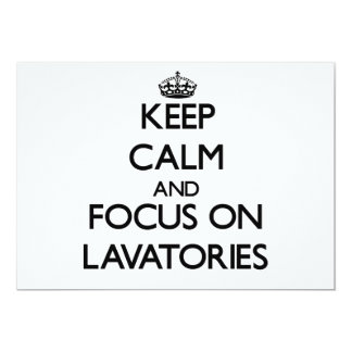 Keep Calm and focus on Lavatories Announcement