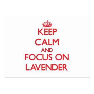 Keep Calm and focus on Lavender Business Card Templates