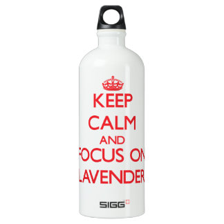 Keep Calm and focus on Lavender SIGG Traveler 1.0L Water Bottle