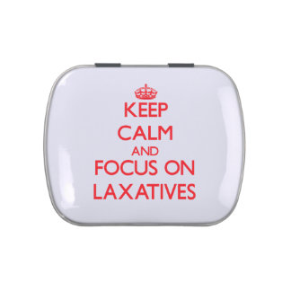 Keep Calm and focus on Laxatives Candy Tins
