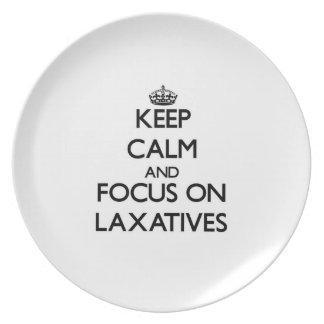 Keep Calm and focus on Laxatives Party Plates