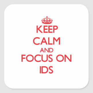 Keep Calm and focus on LDS Stickers