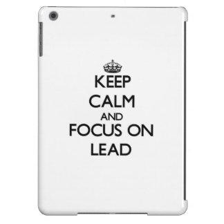 Keep Calm and focus on Lead iPad Air Covers